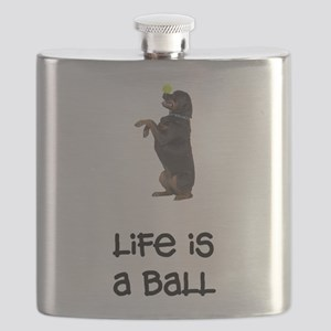 FIN-rottweiler-life-ball Flask