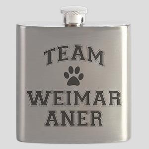 Team Weimaraner Flask