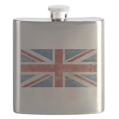 Vintage Union Jack Flask