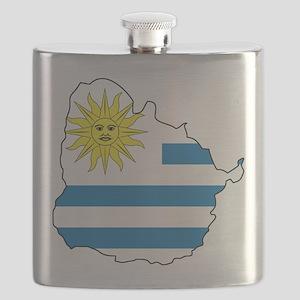 Map Of Uruguay Flask