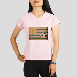 Vintage Uruguay Football Performance Dry T-Shirt