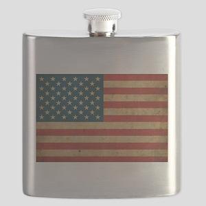 Vintage America Flag Flask