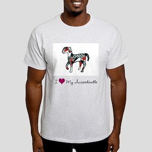 I Love My Aussiedoodle Light T-Shirt