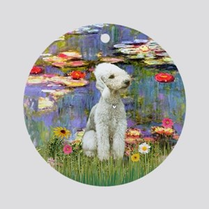 Lilies2 - Bedlongton Terrier Ornament (Round)