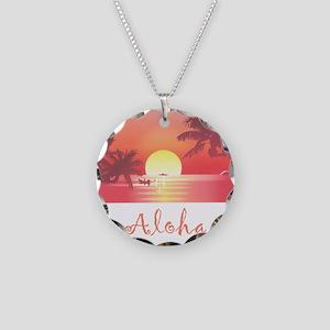 HAWAII SUNSET Necklace Circle Charm