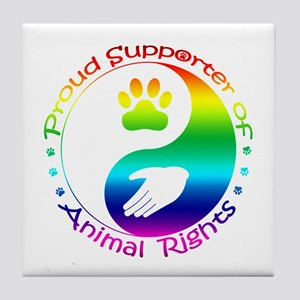 Supporter of Animal Rights Tile Coaster