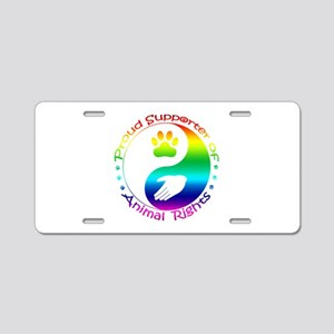 Supporter of Animal Rights Aluminum License Plate