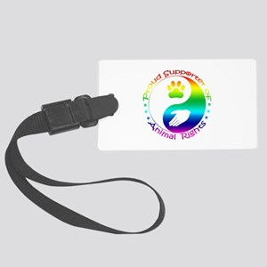 Supporter of Animal Rights Large Luggage Tag