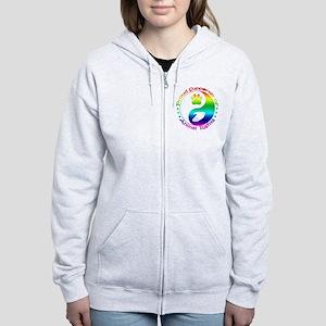 Supporter of Animal Rights Women's Zip Hoodie