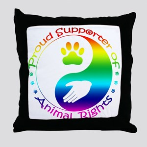 Supporter of Animal Rights Throw Pillow
