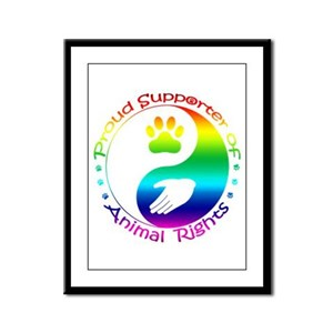 Supporter of Animal Rights Framed Panel Print