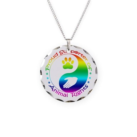 Supporter of Animal Rights Necklace Circle Charm