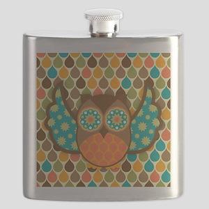 Owl Boheme Brown Flask