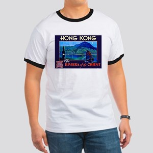 Hong Kong Travel Poster 1 Ringer T
