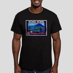 Hong Kong Travel Poster 1 Men's Fitted T-Shirt (da
