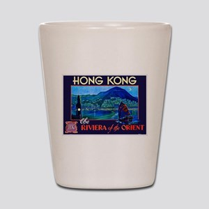 Hong Kong Travel Poster 1 Shot Glass