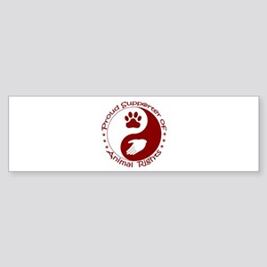 Supporter of Animal Rights Sticker (Bumper)