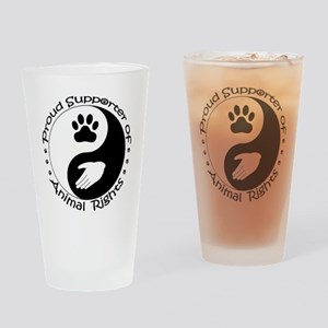 Supporter of Animal Rights Drinking Glass