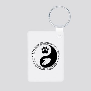 Supporter of Animal Rights Aluminum Photo Keychain