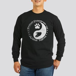 Supporter of Animal Rights Long Sleeve Dark T-Shir