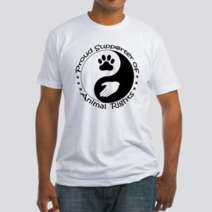 Supporter of Animal Rights Fitted T-Shirt