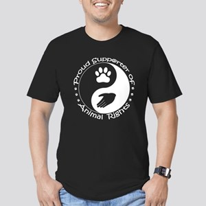 Supporter of Animal Rights Men's Fitted T-Shirt (d