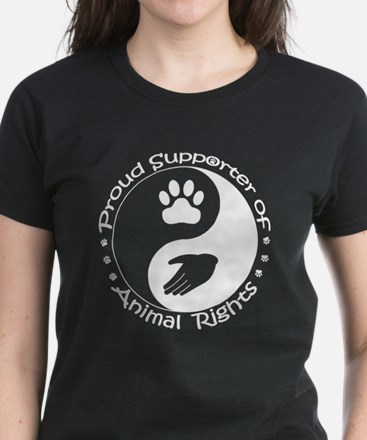 Supporter of Animal Rights Women's Dark T-Shirt