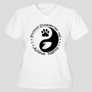 Supporter of Animal Rights Women's Plus Size V-Nec