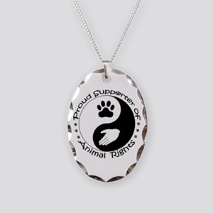 Supporter of Animal Rights Necklace Oval Charm