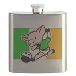 ireland-soccer-pig Flask