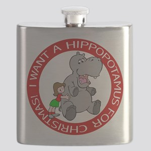 FIN-hippo-christmas-girl Flask