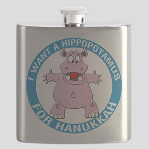 Hippopotamus For Hanukkah Flask