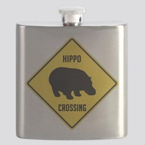crossing-sign-hippo Flask