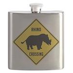 crossing-sign-rhino Flask