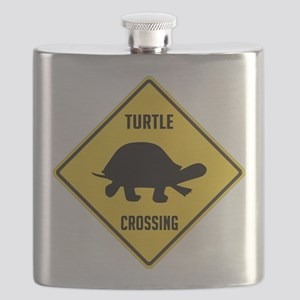 crossing-sign-turtle Flask