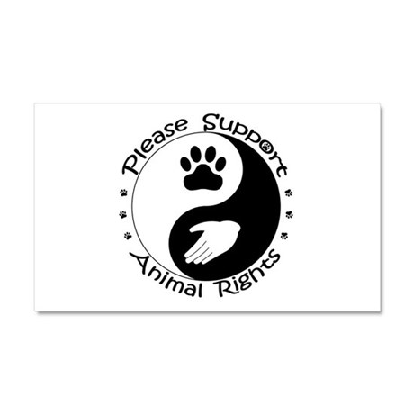 Please Support Animal Rights Car Magnet 20 x 12