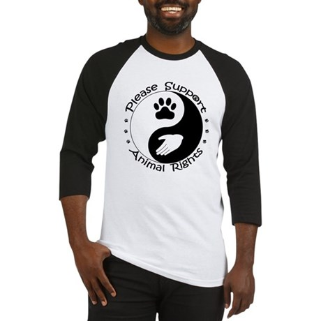 Please Support Animal Rights Baseball Jersey