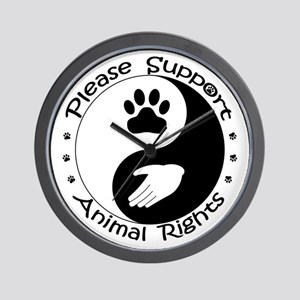 Please Support Animal Rights Wall Clock