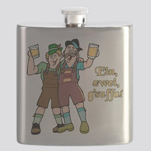 FIN-one-two-drink-up Flask