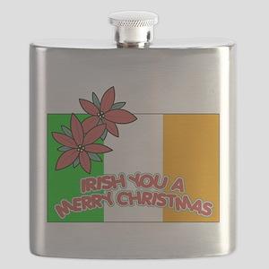 FIN-irish-merry-christmas Flask