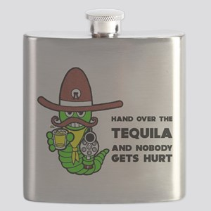 FIN-hand-over-tequila Flask