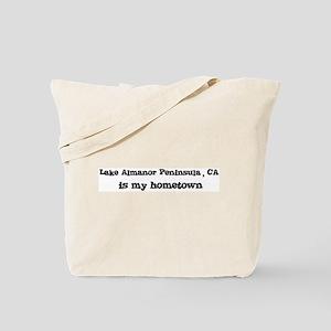 Lake Almanor Peninsula - home Tote Bag