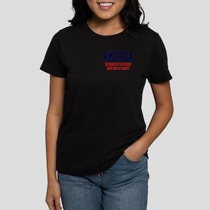 AMERICA: Geniuses - Idiots Women's Dark T-Shirt
