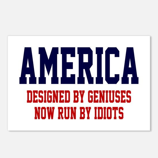 AMERICA: Geniuses - Idiots Postcards (Package of 8