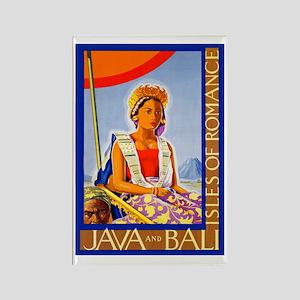 Java Travel Poster 2 Rectangle Magnet