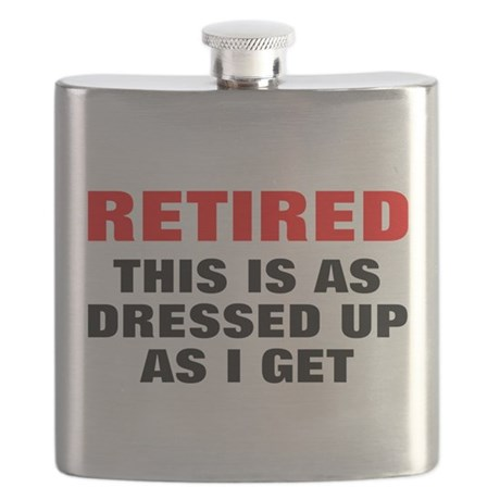 Retired Dressed Up Flask