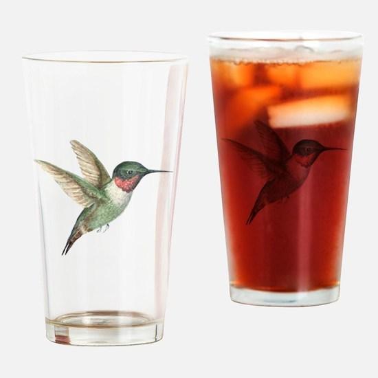 Hummingbird Drinking Glass