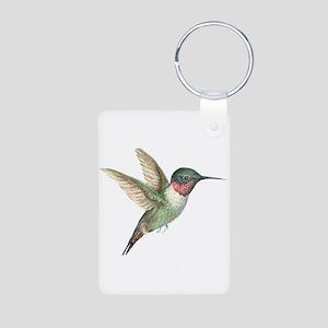 Hummingbird Aluminum Photo Keychain