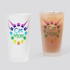 """Cat Mom"" Drinking Glass"