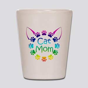 """Cat Mom"" Shot Glass"